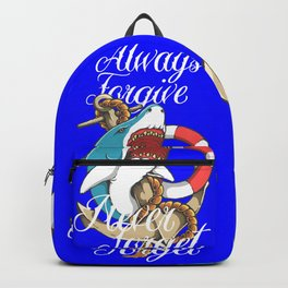 Shark - always forgive Backpack
