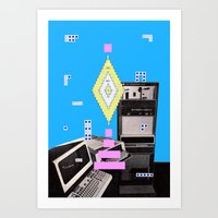 computer Art Prints featuring COMPUTER GAMES by MAR AMADOR