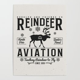 Reindeer Aviation - Christmas Poster