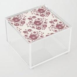 Afternoon Tea Damask Acrylic Box
