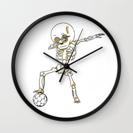 Dabbing Skeleton Cute Funny Dab Dance Wall Clock