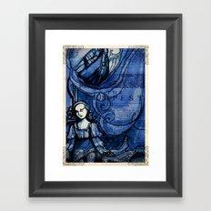The Tempest - Miranda - Shakespeare Folio Illustration Framed Art Print