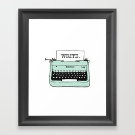 TYPE{WRITE}R Framed Art Print