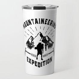 Hot Mountaineering Art Gift Travel Mug