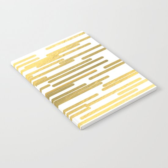 Gold Bars - trendy hipster gold foil shiny sparkle gilded gold bars money art print phone case  Notebook