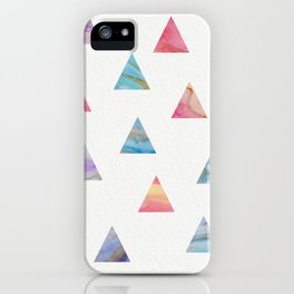 Marble Triangles iPhone Case