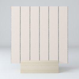 French Cream Linen Stripe Mini Art Print