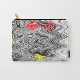 Absolute Abstract Grey Jiggle With Colour Splash Carry-All Pouch