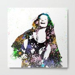 Janis - Piece Of My Heart - Pop Art Metal Print