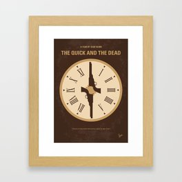 No988 My The Quick and the Dead minimal movie poster Framed Art Print