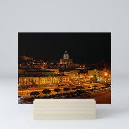 Lisbon by night Mini Art Print