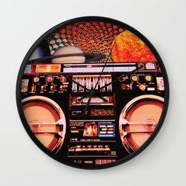 Planetary Boombox Wall Clock