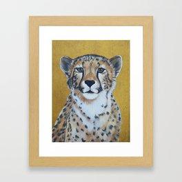 Cheetas, acrylic on canvas Framed Art Print