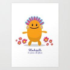Xochipilli - Le prince des fleurs (Lil Gods) Art Print