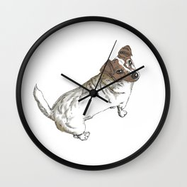 Scratchy the Jack-Russel (clear background) Wall Clock