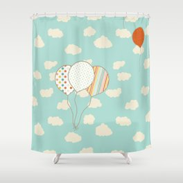 Balloons that Fly Shower Curtain