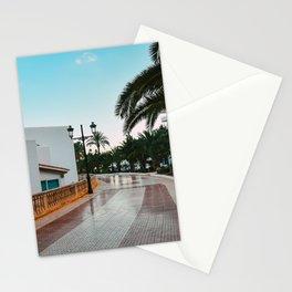 Ibiza east coast boulevard   palm-tree road   blue sky dine art photography  Stationery Cards