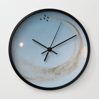 planes Wall Clocks featuring Planes by Tomas Hudolin