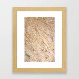 Wooden flakeboard Framed Art Print