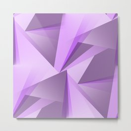 Meditation - Purple Abstract Metal Print