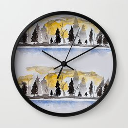 Chase Me Through The Forest Wall Clock