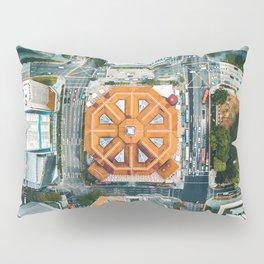 Aerial Cityscape View (Color) Pillow Sham