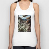 frame Tank Tops featuring Cholla Frame by Kevin Russ