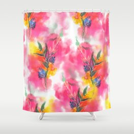 Spring stems watercolour Shower Curtain