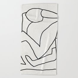 Abstract line art 2 Beach Towel