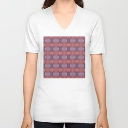Lacy pattern weaving Unisex V-Neck