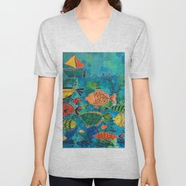 Fish Are Friends Unisex V-Neck