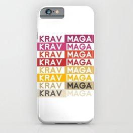 Pop Art Krav Maga iPhone Case