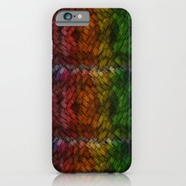 Colored Patchwork iPhone Case