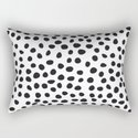 Hand Drawn Polka Dots, Spots Black &  White by goodpatternbest