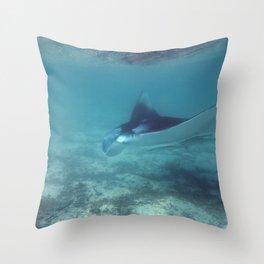 Manta by the shore Throw Pillow