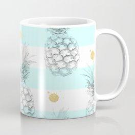 Pineapple express - aqua stripe gold splat Coffee Mug