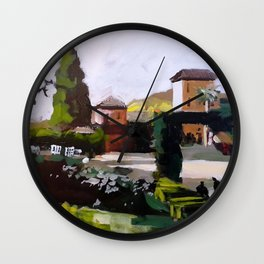 Sunny in Granada Wall Clock