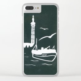 Home in Grey Clear iPhone Case