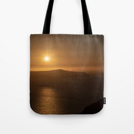 Golden Hour in Santorini Tote Bag