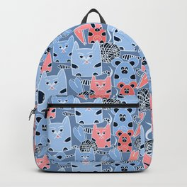 Friendship of a cat and mouse, ball, hearts Backpack