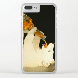 Polar Bear Liquor ad vintage Clear iPhone Case