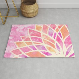 Stained Glass Lotus Rug