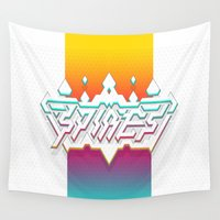 spires Wall Tapestries featuring Spires : Crystyl Cystlys Spectrym  by Spires