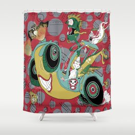 get in the car, we're goin' for a ride! Shower Curtain