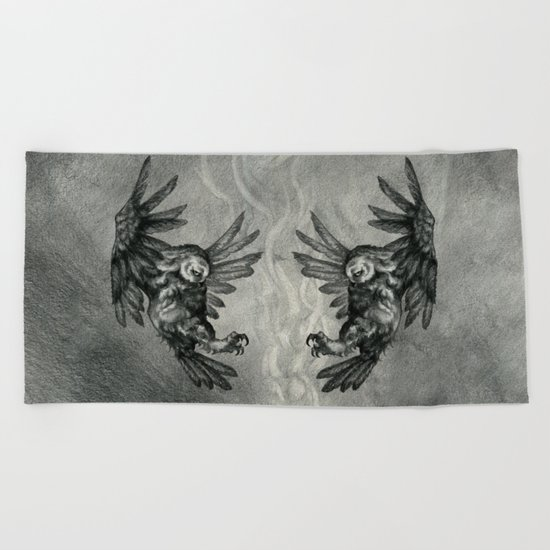 The Owl and the Witch Beach Towel