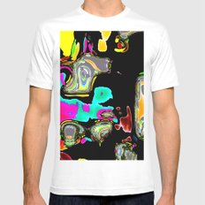 Bent Spots 1 B MEDIUM White Mens Fitted Tee