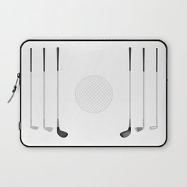 Golf Clubs and Ball Laptop Sleeve