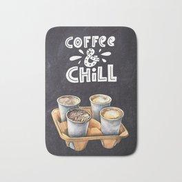 Coffee blackboard lettering — Coffee & Chill Bath Mat
