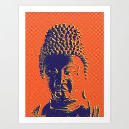 Head of the Buddha Art Print