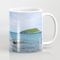 puffin Mugs featuring Puffin Island by PICSL8